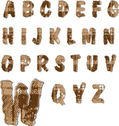 alphabet collection vector image