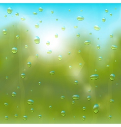 Summer rain background vector