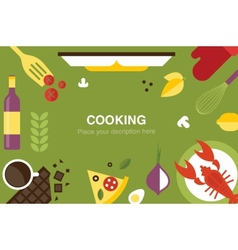 cooking desk header vector image