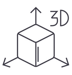 3d cube icon sign o vector image