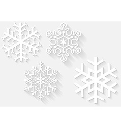 3D Snowflake Set vector image vector image