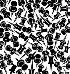 Push pins seamless background monochrome single vector