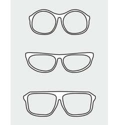 White glasses set vector