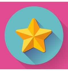 Single golden star shine flat designed style vector