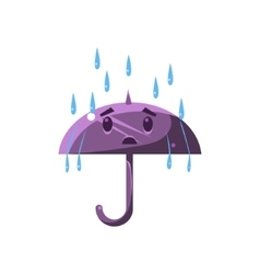 Umbrella under the heavy rain vector