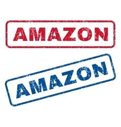 Amazon rubber stamps vector