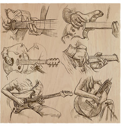 An hand drawn collection pack - guitar solo vector