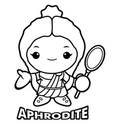Black and white aphrodite mascot the goddess of vector