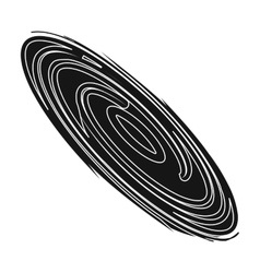 Black hole icon in black style isolated on white vector image