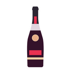 bottle wine vector image
