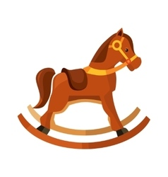 brown rocking horse for vector image