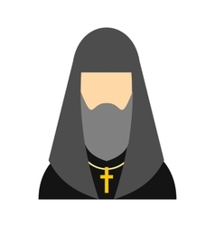 Christian russian priest flat icon vector