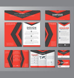 Corporate set in the style of the material design vector image vector image