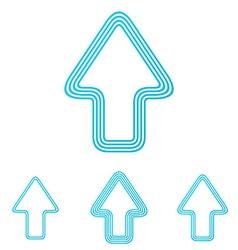 Cyan line up logo design set vector