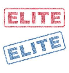 Elite textile stamps vector