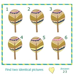 Find two identical pictures vector image