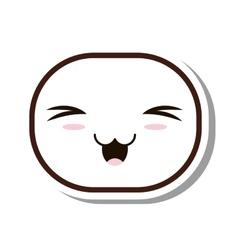 Kawaii face emogy isolated icon vector