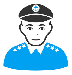 Military captain icon vector