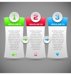 Modern infographics options banner Modern Design vector image