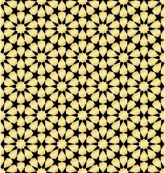 Moroccan gold seamless vector image vector image