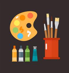 multicolor watercolour paint box vector image vector image