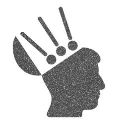 Open mind interface grainy texture icon vector