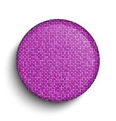 Pink sequin circle button eps 10 vector