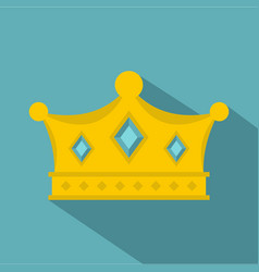Prince crown icon flat style vector