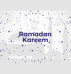 Ramadan kareem mosque stars and lantern muslim vector