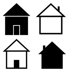 Set of the silhouettes houses vector image vector image
