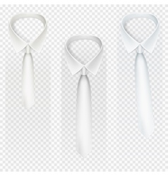Set of ties on transparent background eps 10 vector