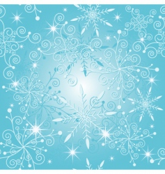 sparkle blue Christmas pattern vector image
