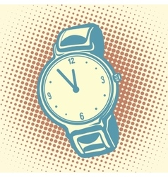 Wrist watch retro vector image