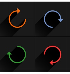 Arrow icon rotation reset repeat reload sign vector