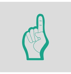 American football foam finger icon vector