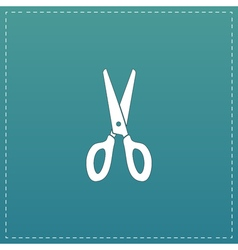 Scissors icon sign and button vector
