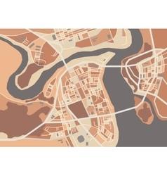 decorative city map vector image