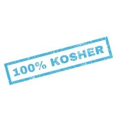 100 percent kosher rubber stamp vector
