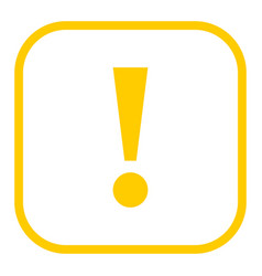 Yellow square exclamation mark icon warning sign vector