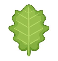 White beam leaf icon cartoon style vector