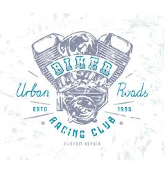 biker club emblem for t-shirt vector image