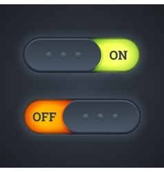 On and off switch toggle buttons vector