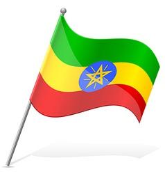 Flag of ethiopia vector