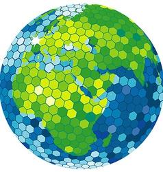 Earth globe disco ball vector