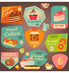 Set of Sweet Cakes vector image