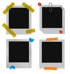 Polaroid picture frame set vector