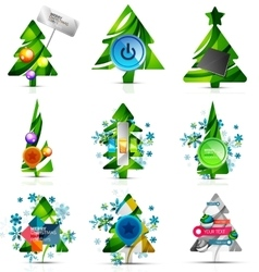 Set of internet buttons christmas concept vector