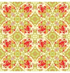 Luxury damask seamless tiled motif pattern vector