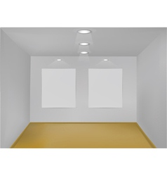 Empty gallery room vector