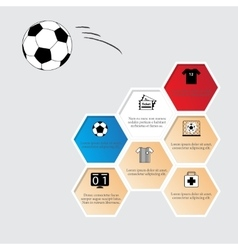 Honeycomb with football flat icons vector